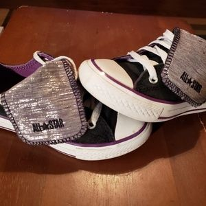 Girls Converse Mega Tongue Ox Chuck Taylor Sneaker